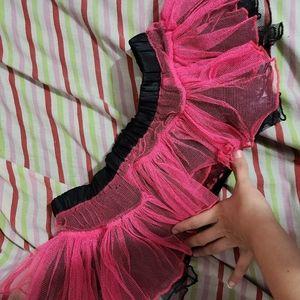 HOT pink and black tutu